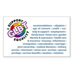 GLBT Equality Rectangle Sticker 50 pk)
