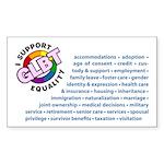 GLBT Equality Rectangle Sticker