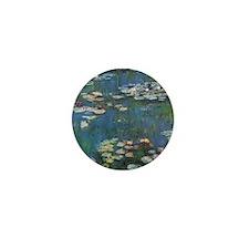 Waterlilies by Claude Monet Mini Button