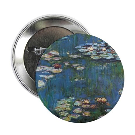 """Waterlilies by Claude Monet 2.25"""" Button (10 pack)"""