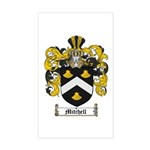 Mitchell Family Crest Rectangle Sticker