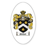 Mitchell Family Crest Oval Sticker