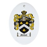 Mitchell Family Crest Oval Ornament