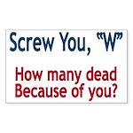 Screw W - Rectangle Sticker 50 pk)