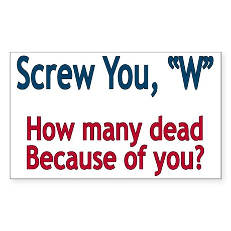 Screw W - Rectangle Sticker 10 pk)