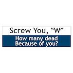 Screw W - Bumper Sticker (50 pk)