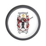 Mills Family Crest Wall Clock