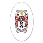 Mills Family Crest Oval Sticker