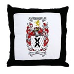Mills Family Crest Throw Pillow