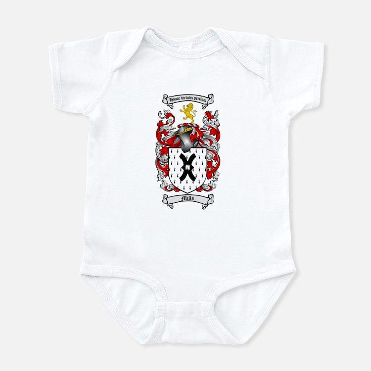 Mills Family Crest Infant Bodysuit