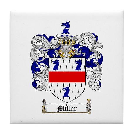 Miller Family Crest Tile Coaster