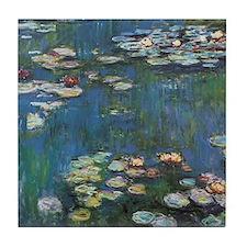 Waterlilies by Claude Monet Tile Coaster