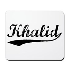 Vintage Khalid (Black) Mousepad