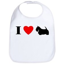 I Heart Scottish Terrier Bib