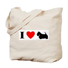 I Heart Scottish Terrier Tote Bag