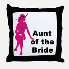 Silhouette Aunt of the Bride Throw Pillow