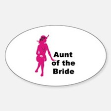 Silhouette Aunt of the Bride Oval Decal