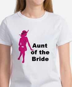 Silhouette Aunt of the Bride Women's T-Shirt