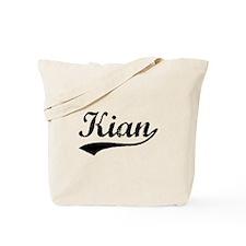 Vintage Kian (Black) Tote Bag