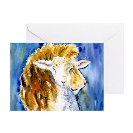 Lion & Lamb Greeting Cards Pk of 10