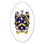 Miles Family Crest Oval Sticker