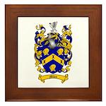Miles Family Crest Framed Tile