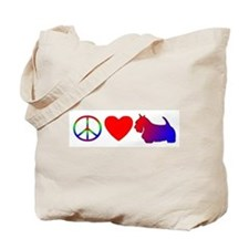 Peace Love Scottie Tote Bag