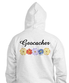 Geocacher Asters Back Image Hoodie