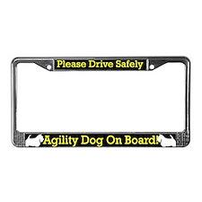 Scottish Terrier Agility Dog License Plate Frame