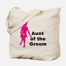 Silhouette Aunt of the Groom Tote Bag
