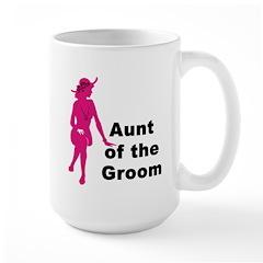 Silhouette Aunt of the Groom Mug
