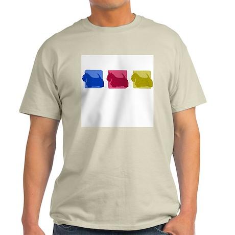 Color Row Scottish Terrier Light T-Shirt