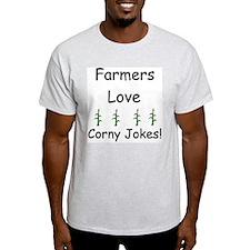 Love Corny Jokes Ash Grey T-Shirt