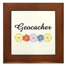 Geocacher Asters Framed Tile