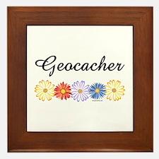 Geocacher Asters Framed Tile