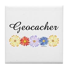 Geocacher Asters Tile Coaster