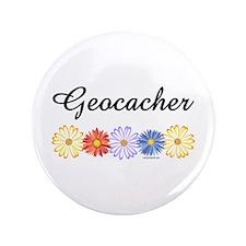 """Geocacher Asters 3.5"""" Button"""