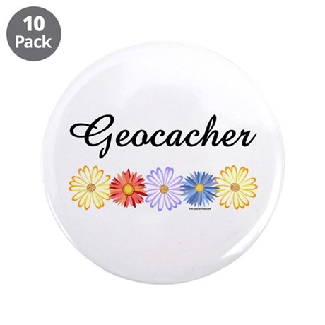 "Geocacher Asters 3.5"" Button (10 pack)"