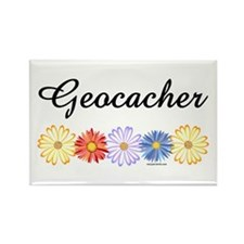 Geocacher Asters Rectangle Magnet