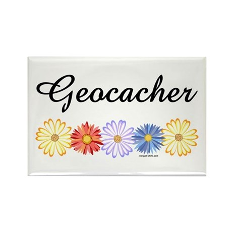 Geocacher Asters Rectangle Magnet (10 pack)