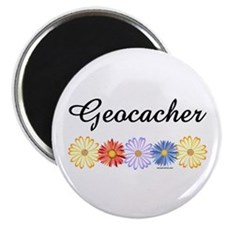 "Geocacher Asters 2.25"" Magnet (10 pack)"