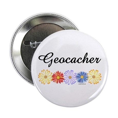 """Geocacher Asters 2.25"""" Button (10 pack)"""