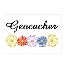 Geocacher Asters Postcards (Package of 8)