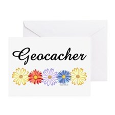 Geocacher Asters Greeting Cards (Pk of 20)