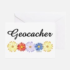 Geocacher Asters Greeting Card