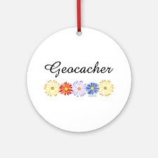 Geocacher Asters Ornament (Round)