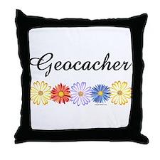 Geocacher Asters Throw Pillow