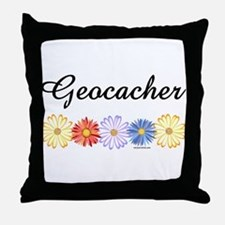 Geocacher Asters Throw Pillow