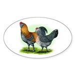 Easter Egg Chickens Oval Sticker (10 pk)