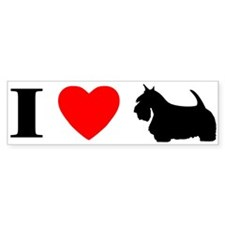 I Love Scottish Terrier Bumper Bumper Sticker